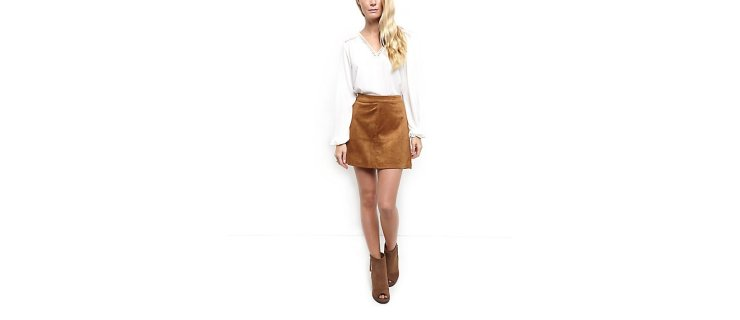 New Look Suede Skirt Autumn